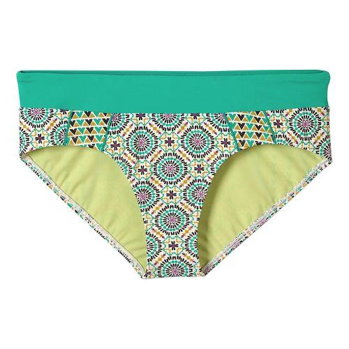 Womens Prana Zuri Bottom Swim - Cool Green Sundial XS