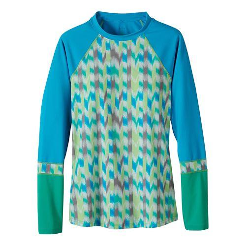 Womens Prana Lorelei Sun Top Swim - Cool Green Ikat L