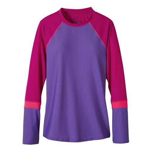 Womens Prana Lorelei Sun Top Swim - Ultra Violet M