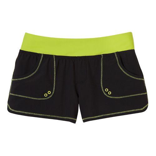Womens Prana Millie Board Unlined Shorts - Black M
