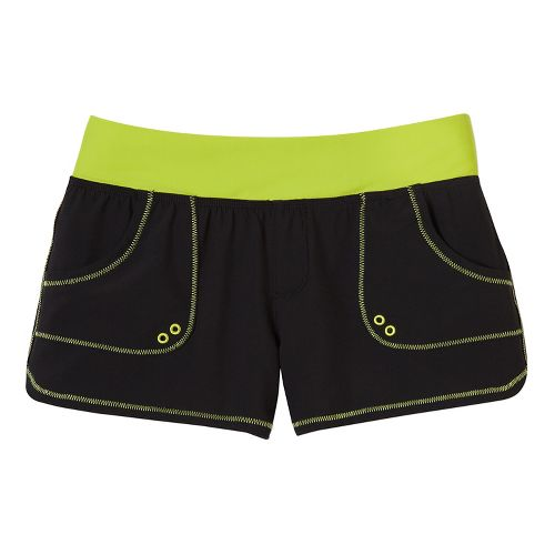 Womens Prana Millie Board Unlined Shorts - Black XS