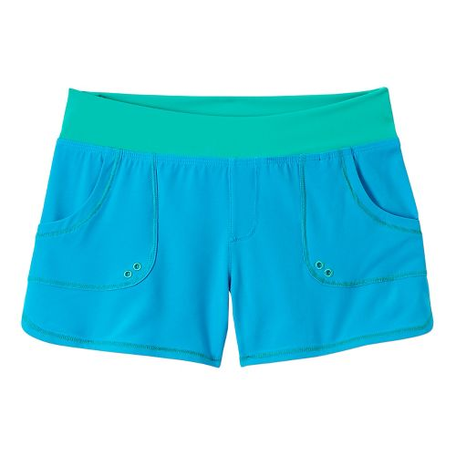 Womens Prana Millie Board Unlined Shorts - Vivid Blue L