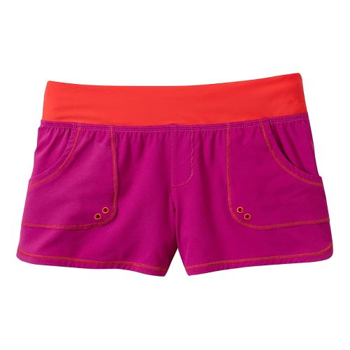 Womens Prana Millie Board Unlined Shorts - Fuchsia M