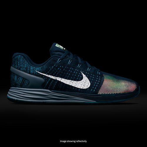 Mens Nike LunarGlide 7 Flash Running Shoe - Blue 8