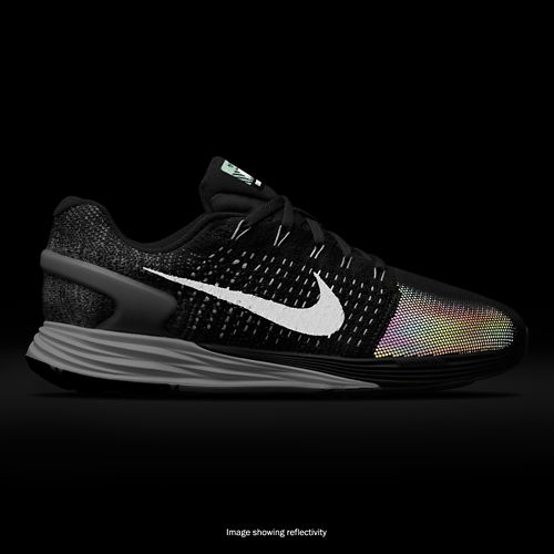 Womens Nike LunarGlide 7 Flash Running Shoe - Black 7.5