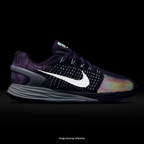 Womens Nike LunarGlide 7 Flash Running Shoe - Purple 10