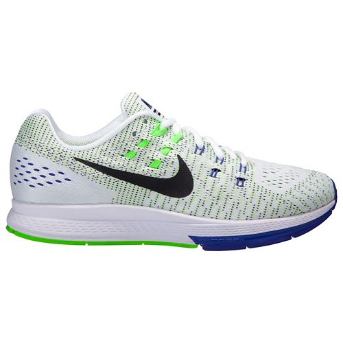 Mens Nike Air Zoom Structure 19 Running Shoe - White/Green 14