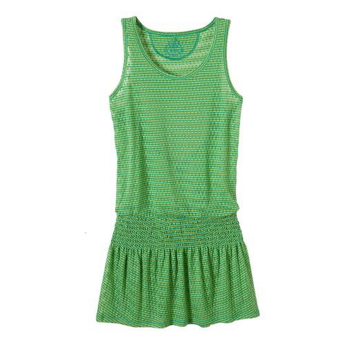 Womens Prana Zadie Dress Fitness Skirts - Cool Green XS