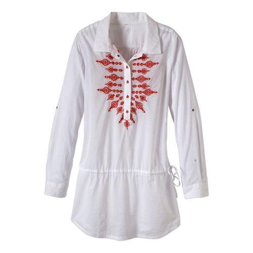 Womens Prana Leta Tunic Fitness Skirts - White S