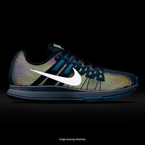 Mens Nike Air Zoom Structure 19 Flash Running Shoe - Blue 11.5