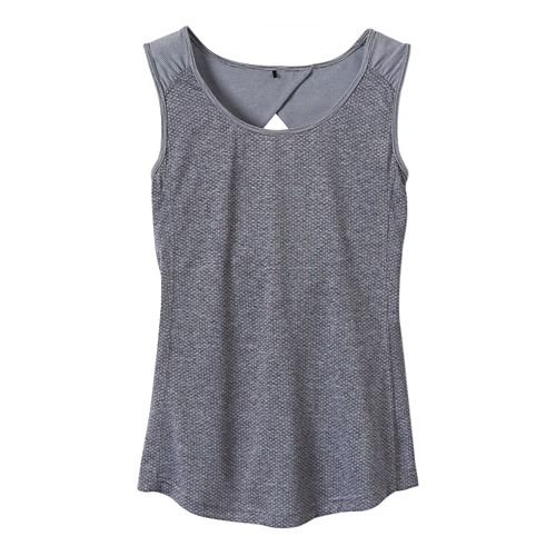 Womens Prana Kamryn Tank Sleeveless Technical Tops - Coal XS