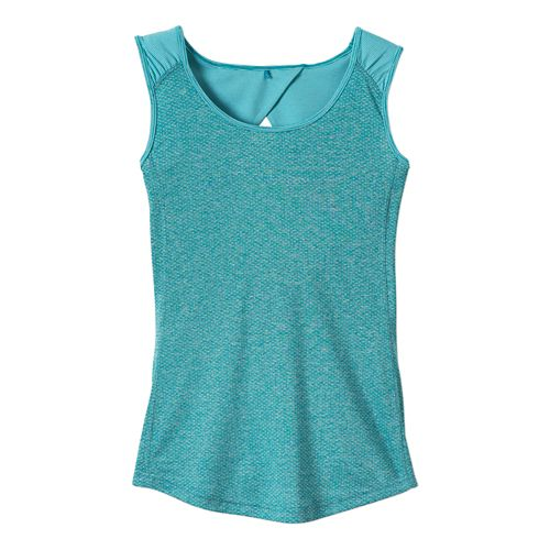 Womens Prana Kamryn Tank Sleeveless Technical Tops - Dynasty Green L