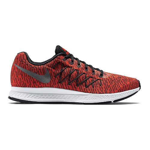 Mens Nike Air Zoom Pegasus 32 Print Running Shoe - Bright Crimson 13