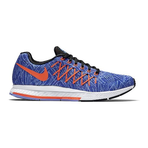 Womens Nike Air Zoom Pegasus 32 Print Running Shoe - Blue/Orange 9