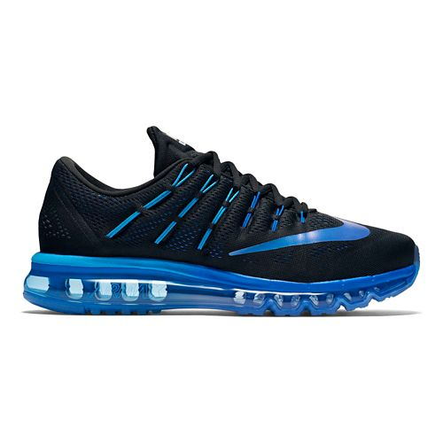Mens Nike Air Max 2016 Running Shoe - Black/Blue 10