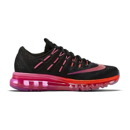 Womens Nike Air Max 2016 Running Shoe - Black/Crimson 9