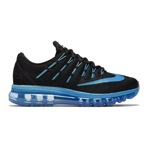 Womens Nike Air Max 2016 Running Shoe - Black/Blue 8.5