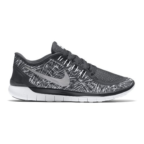 Womens Nike Free 5.0 Print Running Shoe - Black/White 9