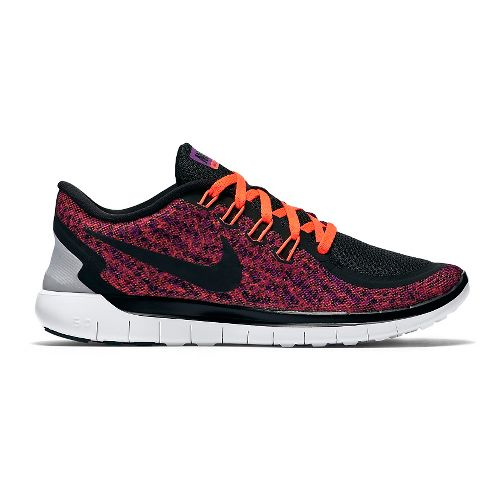Womens Nike Free 5.0 Print Running Shoe - Purple 11