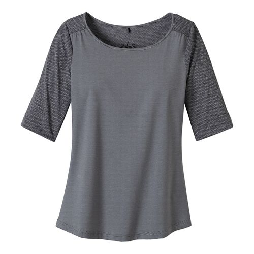 Womens Prana Kaylin Short Sleeve Technical Tops - Coal M