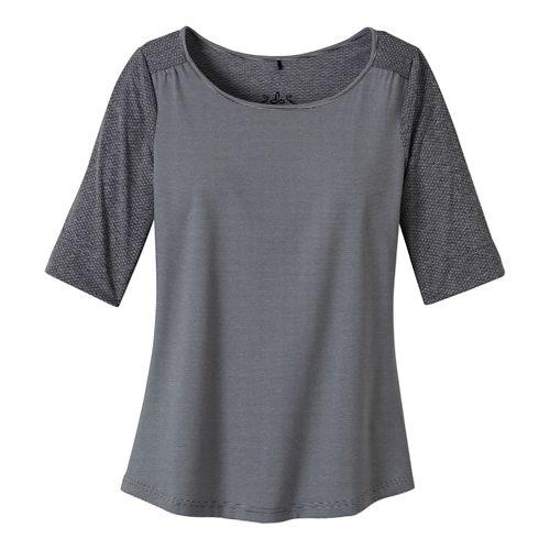Womens Prana Kaylin Short Sleeve Technical Tops - Coal XS