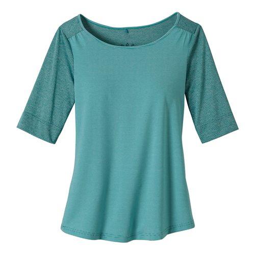 Womens Prana Kaylin Short Sleeve Technical Tops - Dynasty Green XL