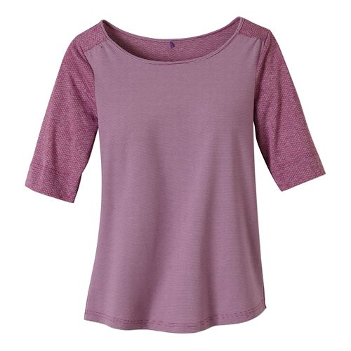 Womens Prana Kaylin Short Sleeve Technical Tops - Vivid Viola XL
