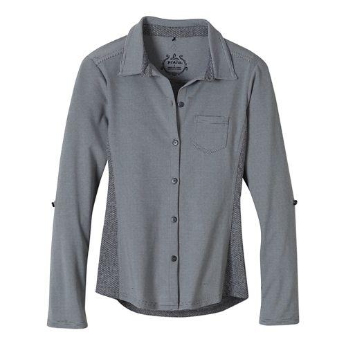 Womens Prana Kinley Shirt Short Sleeve Technical Tops - Coal L