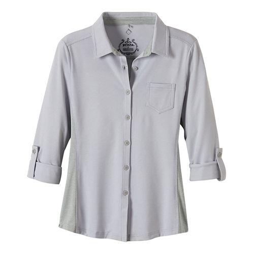 Womens Prana Kinley Shirt Short Sleeve Technical Tops - Coal XL