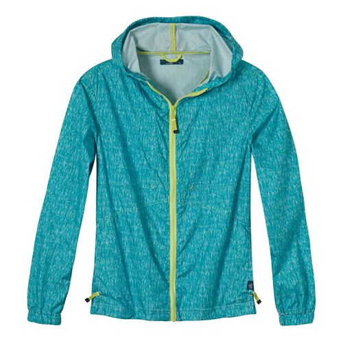 Womens Prana Callista Windbreaker Warm Up Hooded Jackets - Dynasty Green XL
