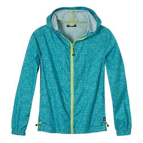Womens Prana Callista Windbreaker Warm Up Hooded Jackets - Dynasty Green XS