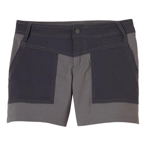 Womens Prana Asha Unlined Shorts - Gravel 4