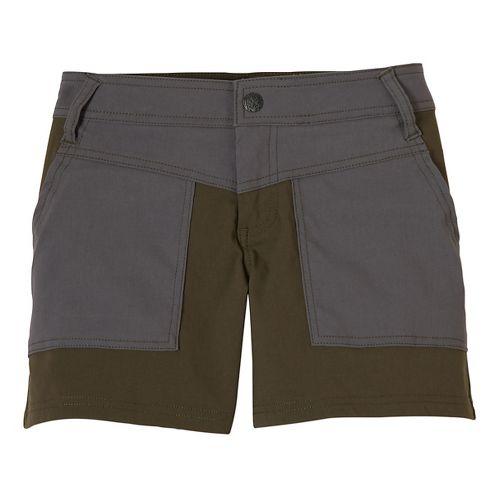 Womens Prana Asha Unlined Shorts - Cargo Green 2