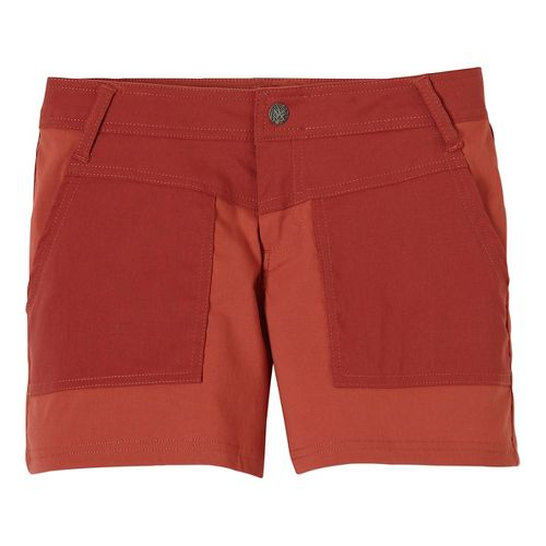 Womens Prana Asha Unlined Shorts - Tomato 8