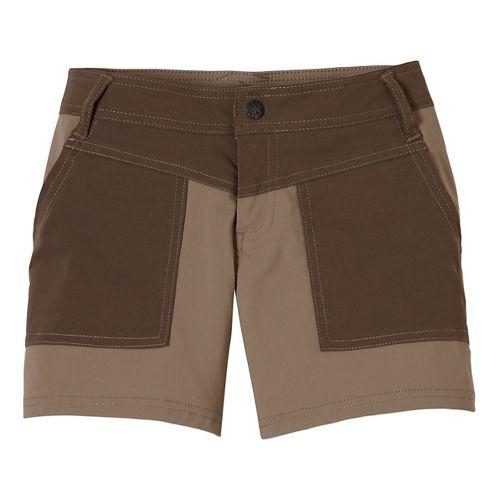 Womens Prana Asha Unlined Shorts - Gravel 12