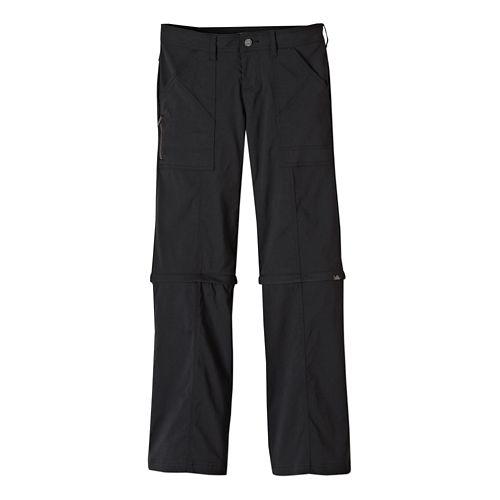 Womens Prana Monarch Convertible Full Length Pants - Black 0-T