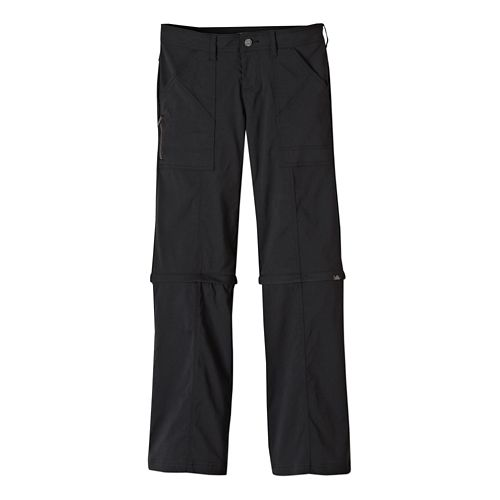 Womens Prana Monarch Convertible Full Length Pants - Black 2-S