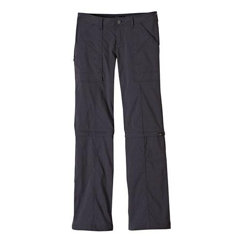 Womens Prana Monarch Convertible Full Length Pants - Coal 0-T