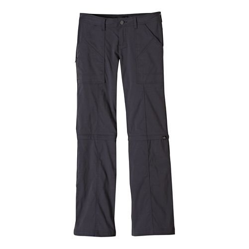 Womens Prana Monarch Convertible Full Length Pants - Coal 8-T