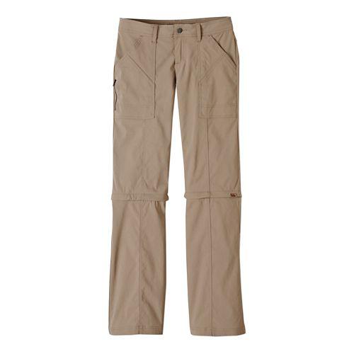 Womens Prana Monarch Convertible Full Length Pants - Dark Khaki 0-T