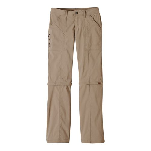 Womens Prana Monarch Convertible Full Length Pants - Dark Khaki 2-T