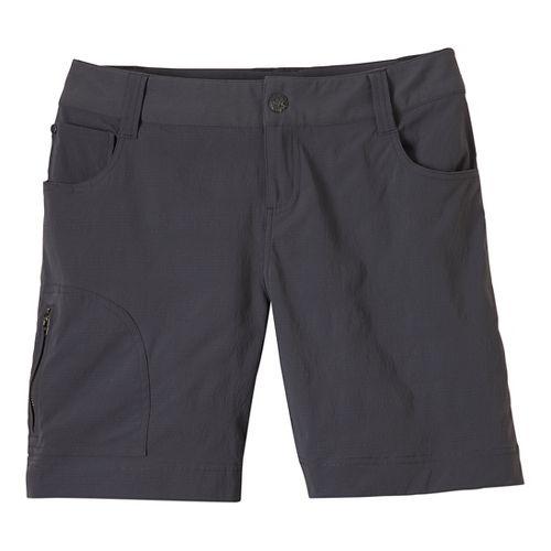 Womens Prana Hazel Unlined Shorts - Coal 4