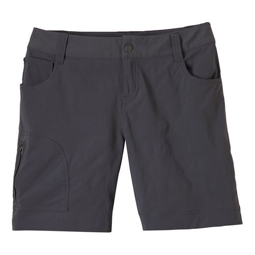 Womens Prana Hazel Unlined Shorts - Coal 6