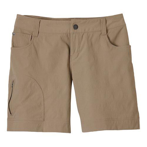 Womens Prana Hazel Unlined Shorts - Dark Khaki 8