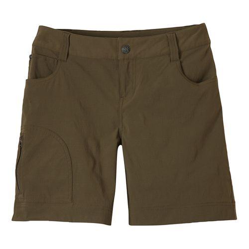 Womens Prana Hazel Unlined Shorts - Cargo Green 14