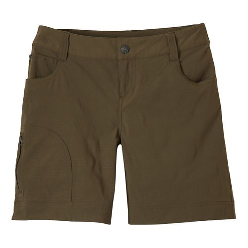 Womens Prana Hazel Unlined Shorts - Cargo Green 2