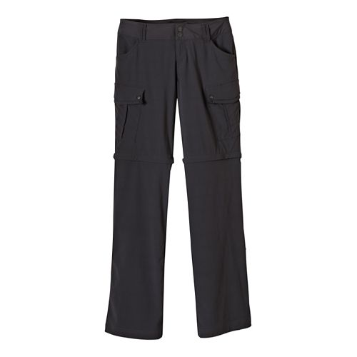 Womens Prana Sage Convertible Full Length Pants - Coal 0-S
