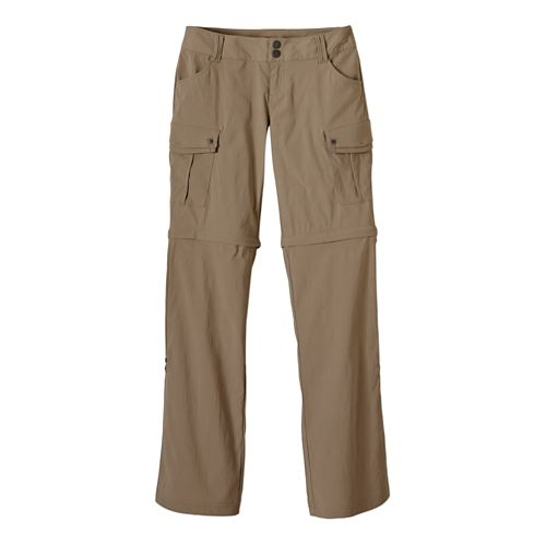 Womens Prana Sage Convertible Full Length Pants - Dark Khaki 14-S