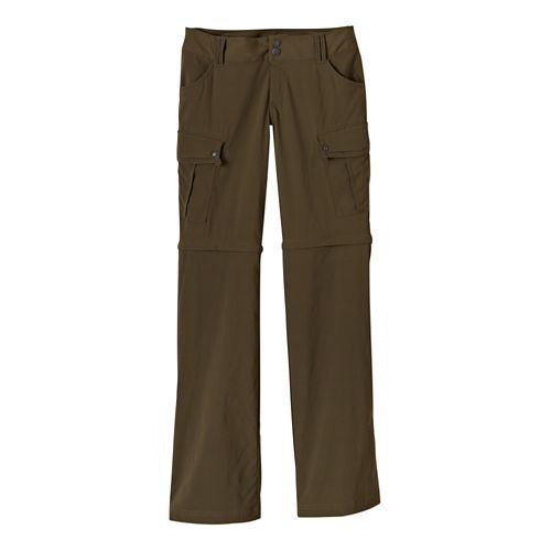 Womens Prana Sage Convertible Full Length Pants - Cargo Green 14-T