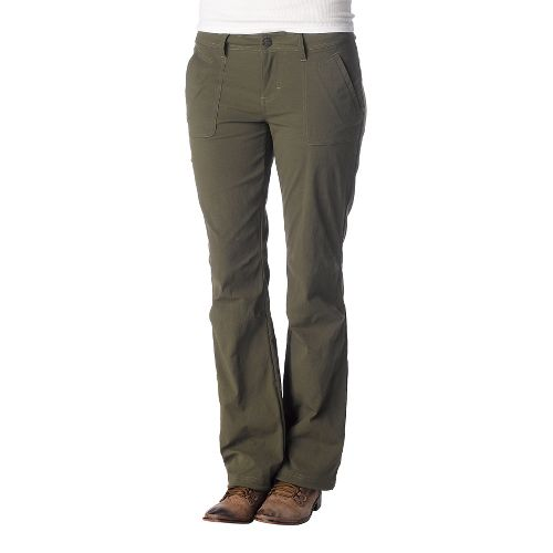 Womens Prana Amira Full Length Pants - Cargo Green 12